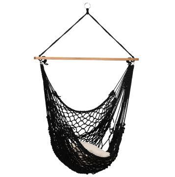 Rope Black Závěsná sedačka pro jednoho